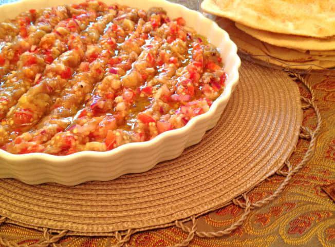 بابا غنوج بالطماطم مطبخ رمضان 2018 لذيذه